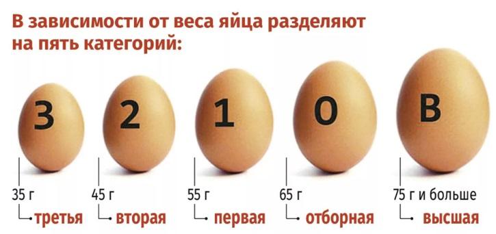 Маркировка яичной продукции по весу