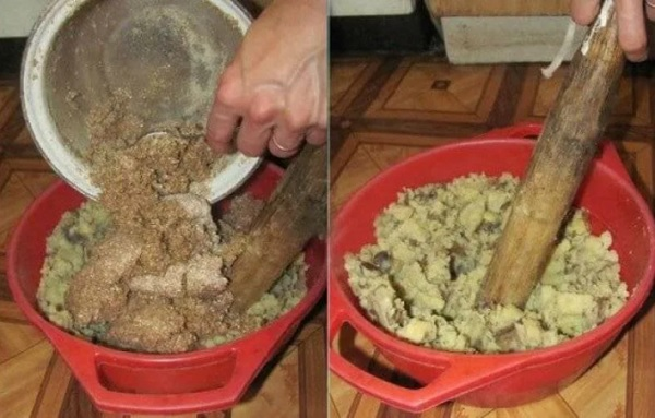 Картофельная мешанка курам